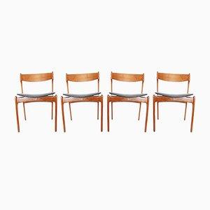 Chaises de Salle à Manger Mid-Century en Teck par Erik Buch, Danemark, 1960s, Set de 4
