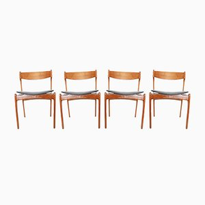 Mid-Century Danish Teak Dining Chairs by Erik Buch, 1960s, Set of 4
