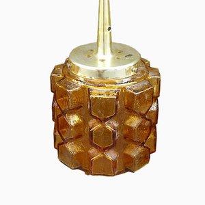 Dänische Glas Deckenlampe von Vitrika, 1960er