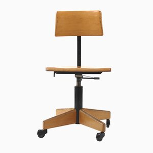 Wooden Architect's Swivel Chair from Stoll Giroflex, 1960s