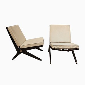 Mid-Century Scissor Chairs by Pierre Jeanneret for Knoll, Set of 2