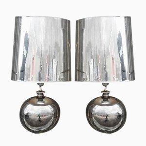 Lámparas de mesa Miami de cerámica de Ugo Zaccagnini, años 50. Juego de 2