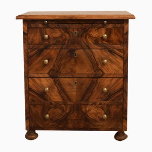 Small Baroque Style Walnut Commode, 1920s