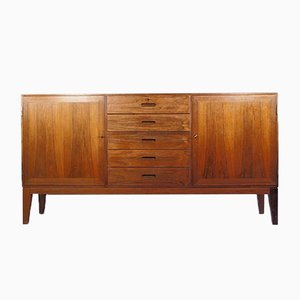 Mid-Century Rosewood Sideboard with Slanted Legs by Kai Winding