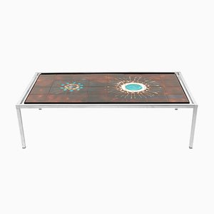 Vintage Rectangle Tile Coffee Table by Jacqueline Belarti