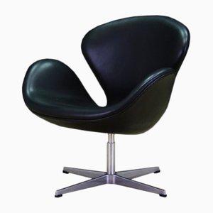 Silla Cisne en negro de Arne Jacobsen para Fritz Hansen, 1982
