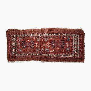 Alfombra Yomud turcomana antigua hecha a mano, década de 1880