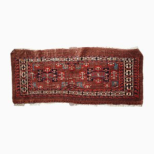 Antique Handmade Turkmen Yomud Rug, 1880s