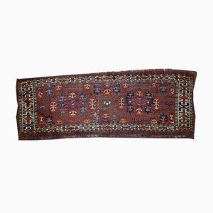 Alfombra Turkmen Yomud antigua tejida a mano, década de 1880