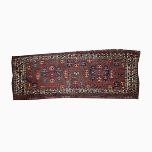 Handmade Antique Turkmen Yomud Rug, 1880s