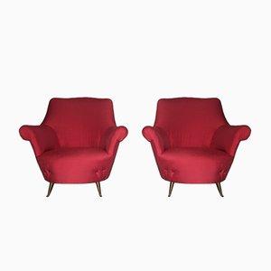 Sessel von ISA Bergamo, 1950er, 2er Set