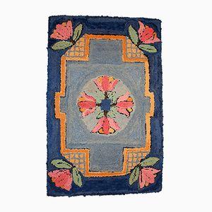 Antiker Handgemachter Amerikanischer Teppich, 1940er