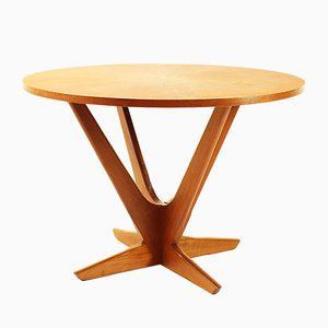 Mid-Century Round Danish Teak Coffee Table