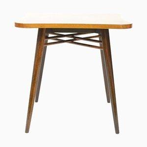 Mesa de centro de chapa de madera, años 50
