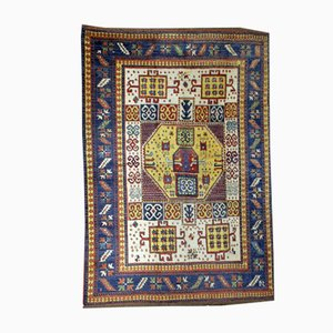 Antique Caucasian Handmade Kazak Karachov Rug, 1940s