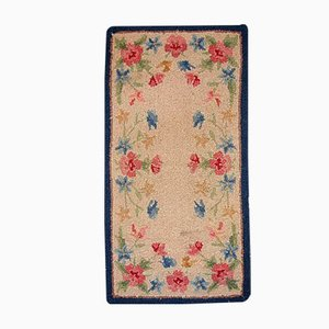 Antique American Handmade Hooked Rug, 1930s