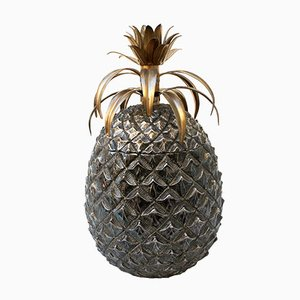 Large Italian Silver Pineapple Ice Bucket by Mauro Manetti for Fonderia d'Arte, 1960s