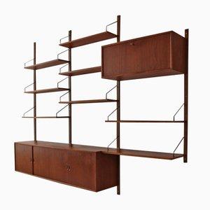 Scaffale modulare Royal System di Poul Cadovius per Cado, anni '60