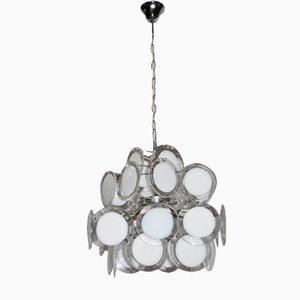 Lámpara de araña de cristal de Murano de Vistosi, años 70