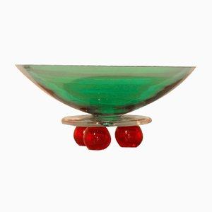 Cuenco de cristal de Murano de Alfredo Barbini, años 80