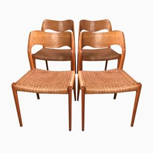 Dining Chairs by Niels Otto Møller for Mobelfabrik Horsens, 1960s, Set of 4