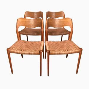 Esszimmerstühle von Niels Otto Møller für Mobelfabrik Horsens, 1960er, 4er Set