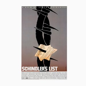 Vintage American Schindlers List Special Film Poster by Saul Bass, 1993