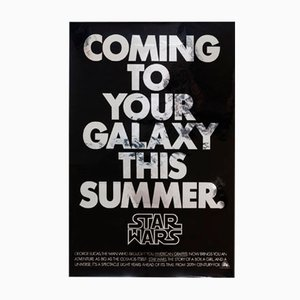 Vintage Star Wars American Advance Mylar Film Poster, 1977