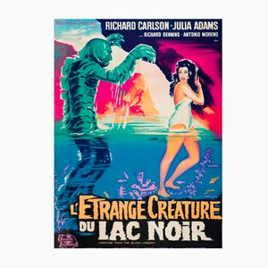 Póster vintage de la película francesa The Creature from the Black Lagoon, 1962