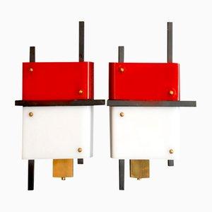 Moderne Wandlampen von Stilnovo, 1950er, 2er Set