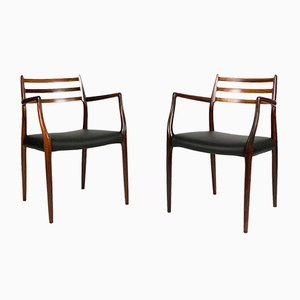 Model 62 Rosewood Armchairs by Niels Møller for J.L. Møllers, 1960s, Set of 2