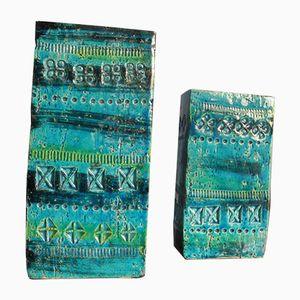 Vintage Rimini Blue Vases by Aldo Londi for Bitossi, Set of 2