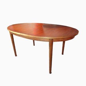 Tavolo allungabile ovale in teak, Regno Unito, 1965