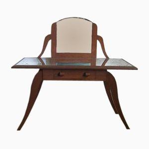 Vintage Oak Vanity Table