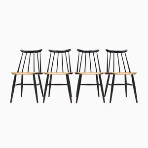 Fanett Chairs by Ilmari Tapiovaara for Asko, 1963, Set of 4