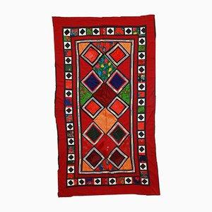 Vintage Uzbek Embroidered Suzani Rug, 1960s