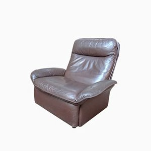 Swiss Leather Lounge Chair from de Sede, 1972