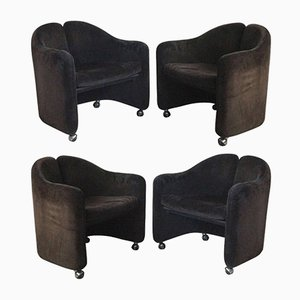 Armchairs by Eugenio Gerli for Tecno, Set of 4