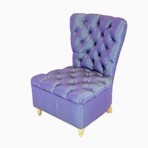 Italienische Mid-Century Sessel aus gepolsterter Parma Seide, 2er Set