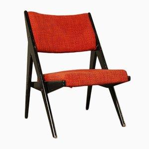 Gepolsterter Mid-Century Stuhl von Yngve Ekström