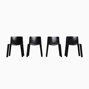Enneuno Chairs by Piero de Martini & Fois Falconi for C&B Italia, 1970s, Set of 4