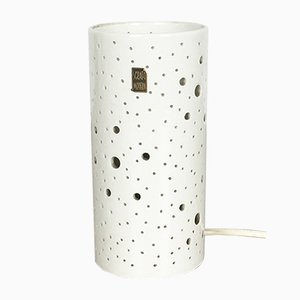 Lampada da tavolo modernista Op Art in ceramica di Peter Müller per Sgrafo Modern, anni '60