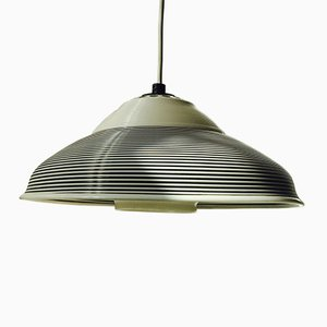 Black & White Mid-Century Pendant Lamp from Heifetz Rotaflex, 1960s