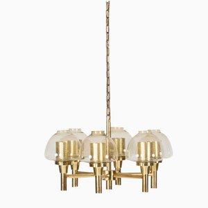 Lámpara de araña de latón de Hans-Agne Jakobsson, años 60