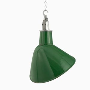 Industrial Angled Enameled Pendant