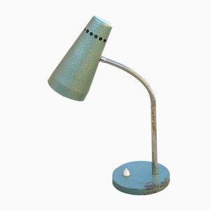 Grüne Industrielle Schwanenhals Schreibtischlampe, 1950er