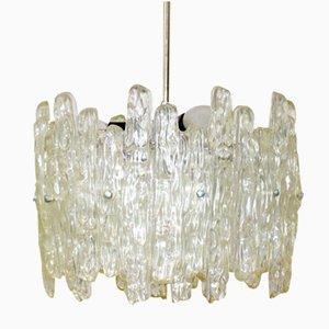 Lámpara colgante de cristal de hielo de Kalmar, años 60