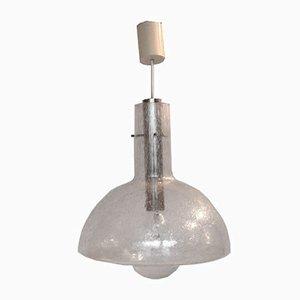 Deutsche Glas Hängelampe von Temde Leuchten, 1960er