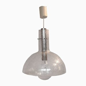 German Glass Pendant Light from Temde Leuchten, 1960s