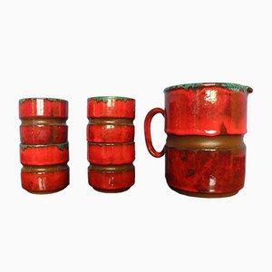 Conjunto de jarrones Fat-Lava, años 50. Juego de 5